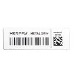 Platinum Metal Skin Label